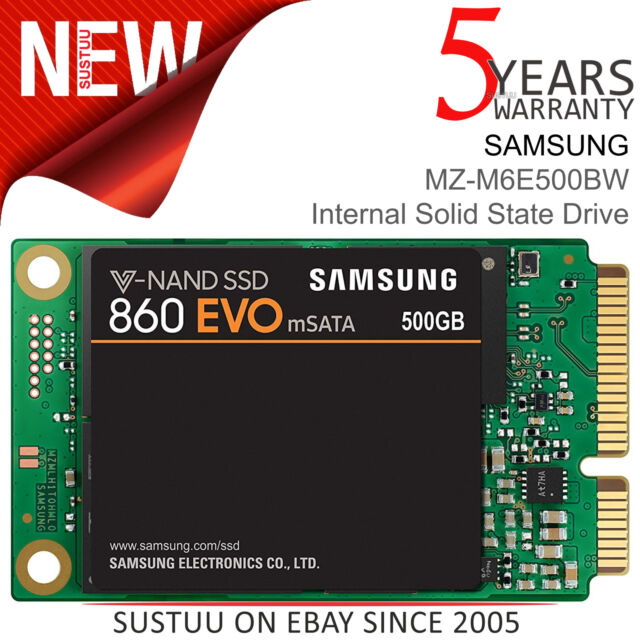 Samsung 860 EVO 2.5 mSATA 500GB Internal SSD Solid State Drive│MZ-M6E500BW│NEW