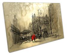 COPPIA in Rosso Canvas Wall Art Picture grandi 75 x 50 cm