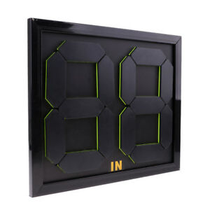 Football Substitution Board Fluorescent Display Practical Soccer