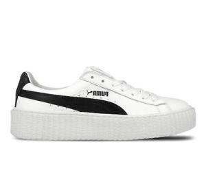 1f0404e8086e Women s Puma Fenty Creeper By Rihanna White Black Leather 364462 01 ...