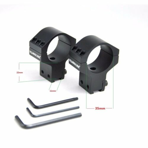Visionking rifle scope rings 35 mm mount .223 .308 .50 cal for Dovetail Rail