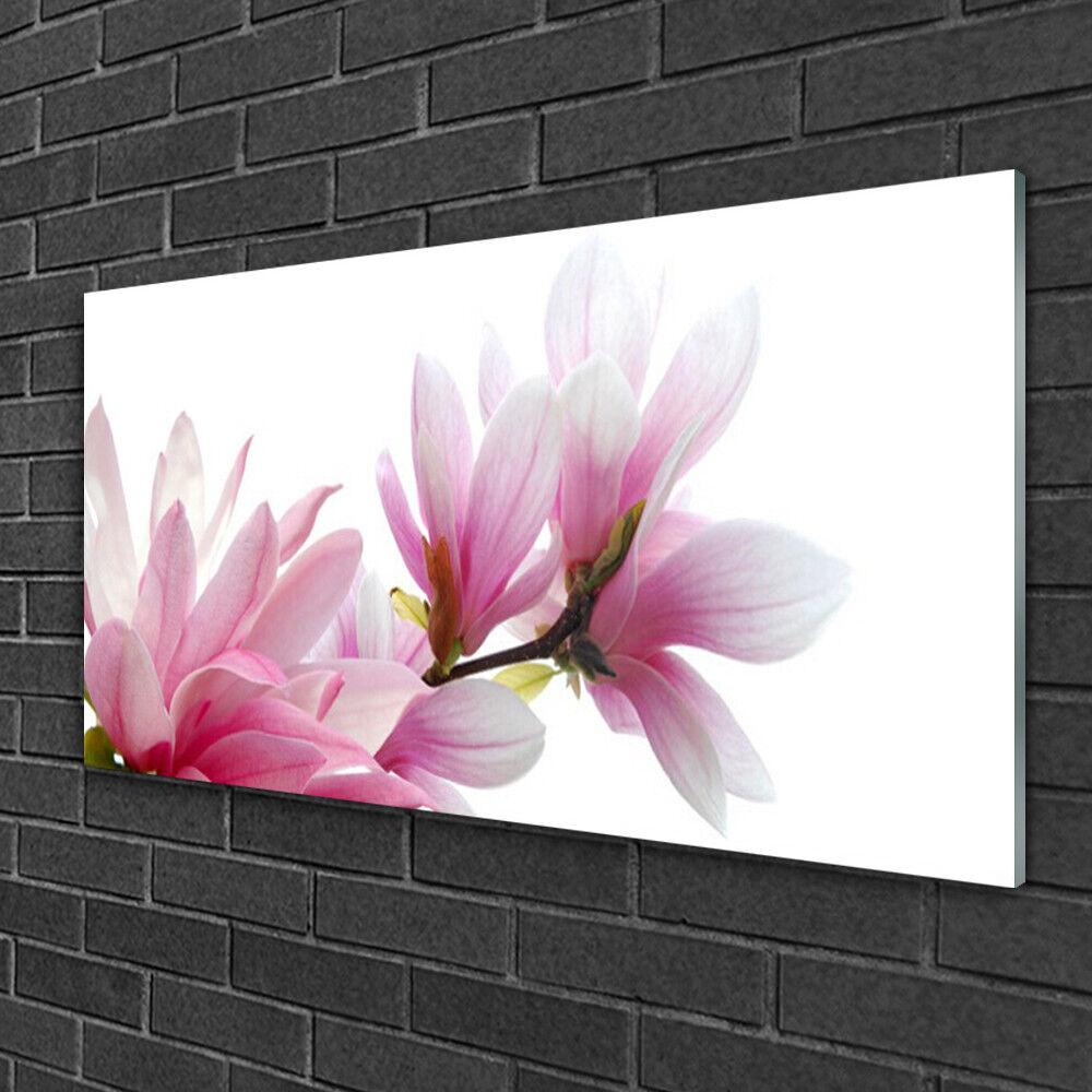 Image sur verre Tableau Impression 100x50 Floral Magnolia Fleurs