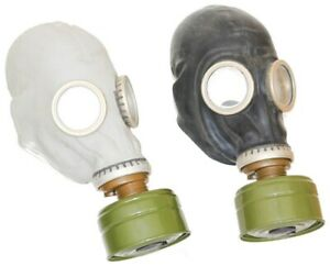 Details about Authentic Soviet Russian Gas MASK GP-5 BLACK + GRAY with  FILTERS exotic old