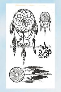 cb70a76d3 Image is loading US-Seller-native-American-dream-catcher-temporary-tattoo-
