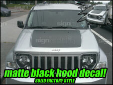 2008 2009 2010 2011 2012 2013 Jeep Liberty Arctic Style Hood Blackout Decal #1