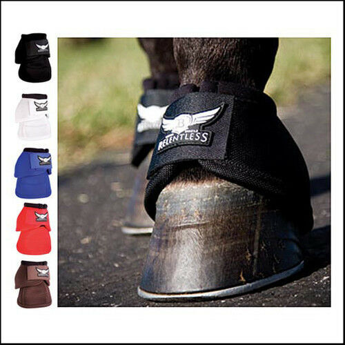 Relentless Bell Boots No Turn Pro Equine Medium all around new strike force