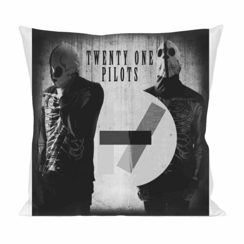 Grunge Twenty One Pilots themed Throw Pillow Cover Satin Cushion Cover.