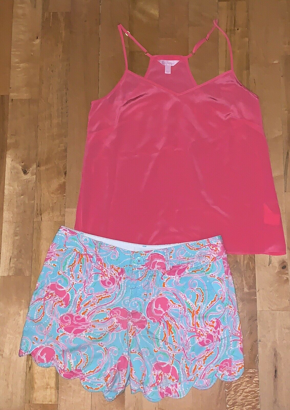 2pc Lilly Pulitzer Renoncule gelées Be Jammin & 039;Shorts 4 & Dusk Cami Tank Top S