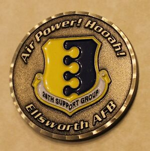 Details about 28th Support Group Ellsworth AFB Air Force Challenge Coin