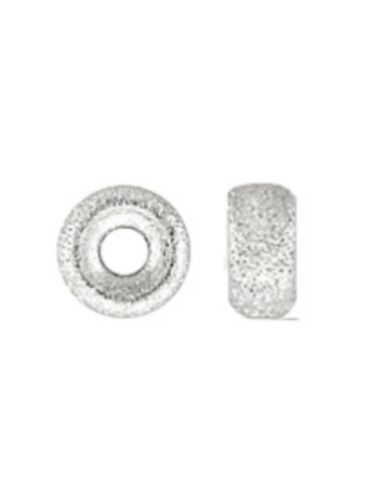 925 Sterling Silver 5.3x2.8mm Stardust Roundel Spacer Beads 10pcs #5122-3