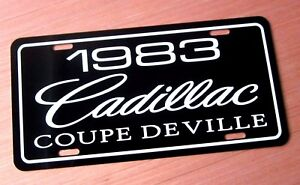 1983 Cadillac COUPE DE VILLE license plate tag 83 Caddy ...