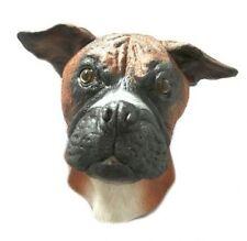 Boxer Dog Mask Fancy Dress Canine Animal Latex Full Head Brown Pet Bulldog