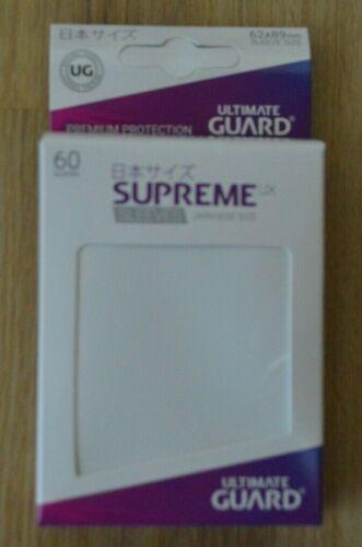 Hüllen 62 x 89mm Ultimate Guard Supreme UX small Sleeves 60x weiß Yu-Gi-Oh