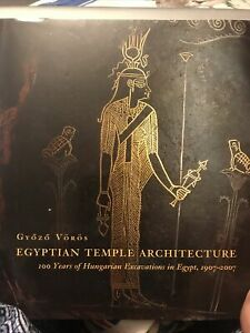 Ancient Egypt temple Architecture New Grozo Voros Very Rare 2007 still sealed