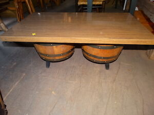 Image Is Loading MIDCENTURY WHISKEY BARREL COFFEE TABLE
