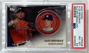 2020 Topps #TPMAB Alex Bregman Player Medallion PSA NM-MT 8.5 Houston Astros