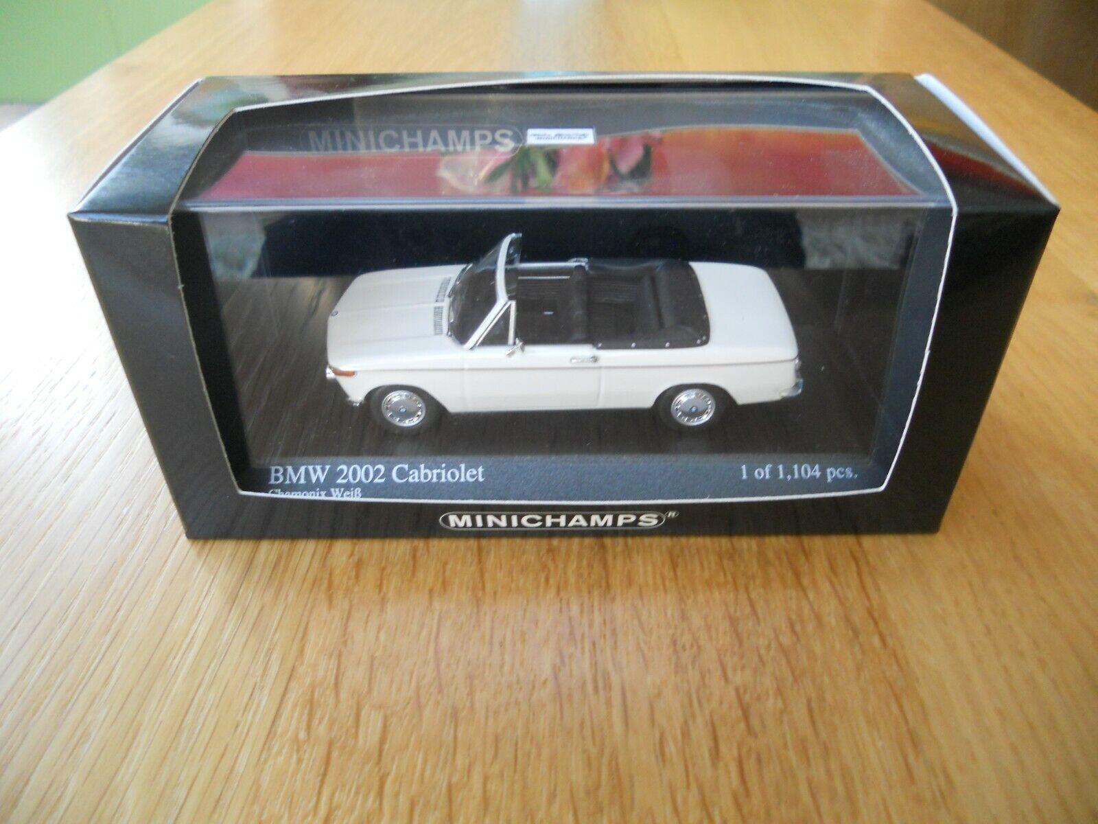 Minichamps 1 43 BMW 2002 Cabriolet in weiss Limitiert 1004  NEU-TOP-BOX