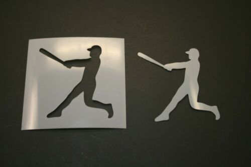 Art Supplies Baseball Player Reusable Mylar Stencil