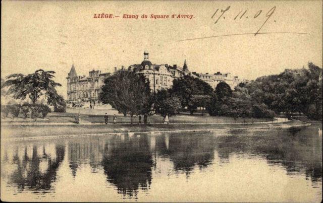 Lüttich Liège Belgien Belgique Wallonien AK 1909 Etang du Square d'Avroy Schloss