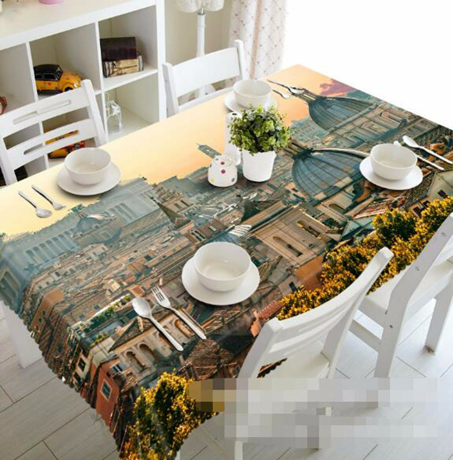 3D City 415 Nappe Table Cover Cloth fête d'anniversaire AJ papier peint Royaume-Uni Citron