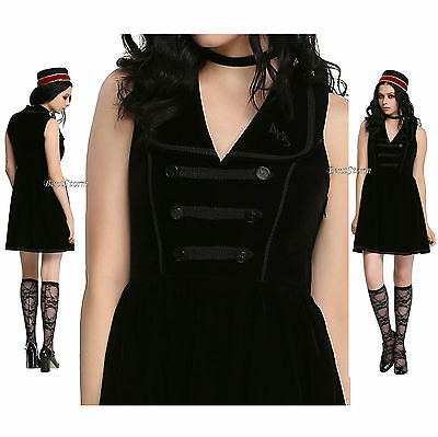 American Horror Story: Hotel Bellhop Black Velvet Dress Fashion Collection M-XL