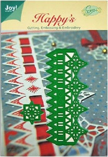 JOY CRAFTS Die Cut//Emboss//Embroidery Stencil CHRISTMAS STAR RULER 6002//2009 *