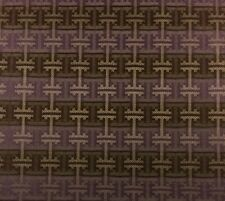SUNBRELLA GEOMETRIC KEY PURPLE BROWN JACQUARD OUTDOOR INDOOR FABRIC BY THE YARD