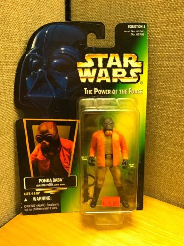 Star Wars Power of the Force Ponda Baba with Blaster Pistol and Rifle Kenner!