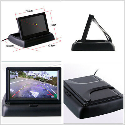 Foldable 4.3 Inch Color LCD TFT Monitor Screen for Car SUV Backup Camera Display