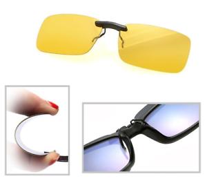 Night-Vision-Anti-Glare-Polarized-Clip-On-Driving-Glasses-Sunglasses-UV400-Lens