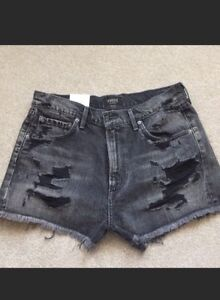 a00aef9a2b Image is loading AGOLDE-Jaden-High-Rise-Cut-off-Shorts-Distressed-