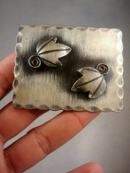 Vtg mid century Frank Rebajes modernist sterling 925  pin brooch