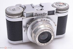 *WORKS 100%* BRAUN PAXETTE I '1953' CAMERA W/ STEABLE KATA 45MM 2.8