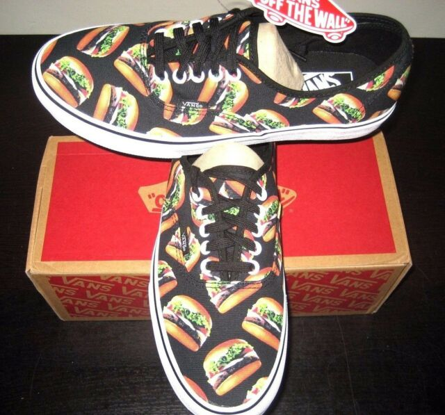 099669d5f8d Vans Authentic Mens Late Night Black Hamburgers Canvas Shoes VN0004MKIF9 NWT