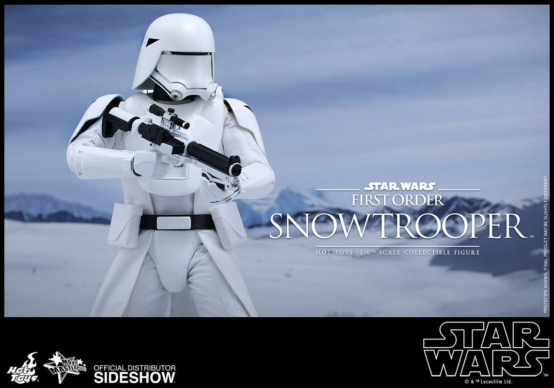 Hot Toys Star Wars First Order Snow Trooper 1 6 Scale Action Figure MIB