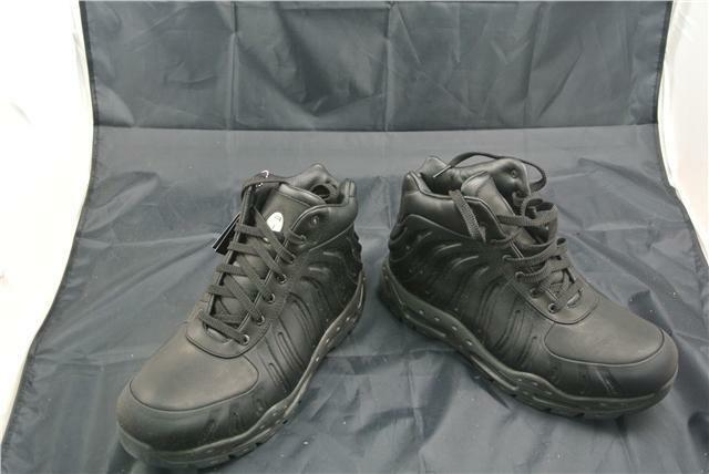 NIKE FOAMPOSITE TRAINERS Stiefel SIZE 9 UK Schuhe BLACK  SPECIAL EDITION RARE