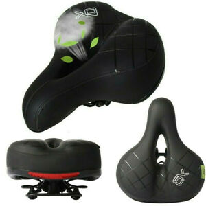 Ergonomic-Bicycle-Seat-Bike-Extra-Wide-Padded-Saddle-Stationary-Exercise-Men-USA