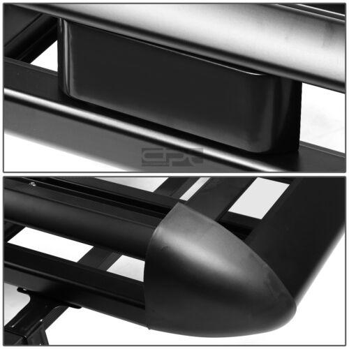 "50/""X 38/""ADJUSTABLE ROOF RACK SUV CARGO LUGGAGE CARRIER BASKET+CROSSBAR BLACK"