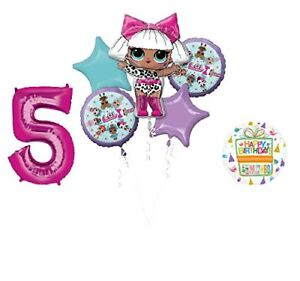 LOL-Party-Supplies-5th-Birthday-Balloon-Bouquet-Decorations