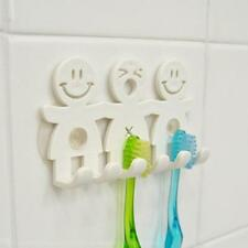 Bathroom Cute Cartoon sucker toothbrush holder suction hook upto 5 toothbrushes