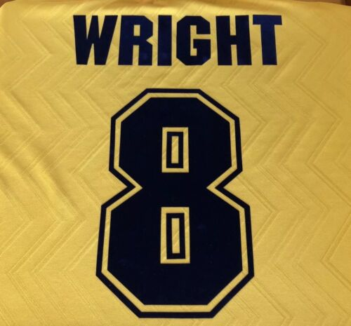 winterburn #3 ORIGINALE Arsenal 1996-97 AWAY NOME E NUMERO SET