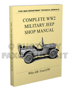 Astonishing Willys Mb Ford Gpw Miltary Jeep Repair Manual 1941 1945 Paper Ww2 Wiring Cloud Oideiuggs Outletorg