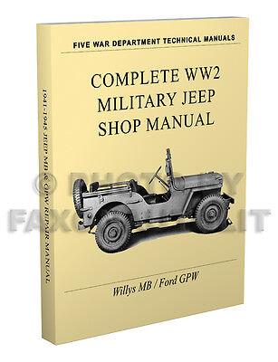 jeep repair diagrams willys mb ford gpw miltary jeep repair manual 1941 1945 paper ww2  willys mb ford gpw miltary jeep repair