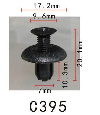 20 Front /& Rear Bumper Clip Nylon Push-Type Retainer MB253964 For Mitsubishi