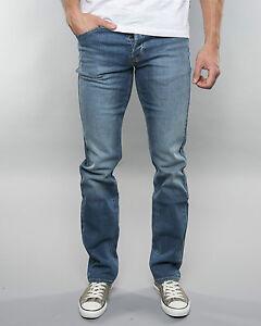 RRP £85 Ref L110 Mens Lee Powell Regular Slim Fit Jeans SECONDS