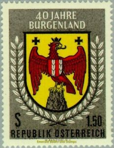EBS-Austria-Osterreich-1961-Coat-of-arms-of-Burgenland-ANK-1140-MNH