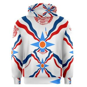 Assyria-Assyrian-Flag-Sublimation-Men-039-s-Pullover-Hoodie-Size-S-3XL-Free-Shipping