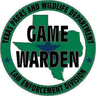 Texas Parks and Wildlife Dept Police Game Warden Park Ranger Guide Decal Sticker