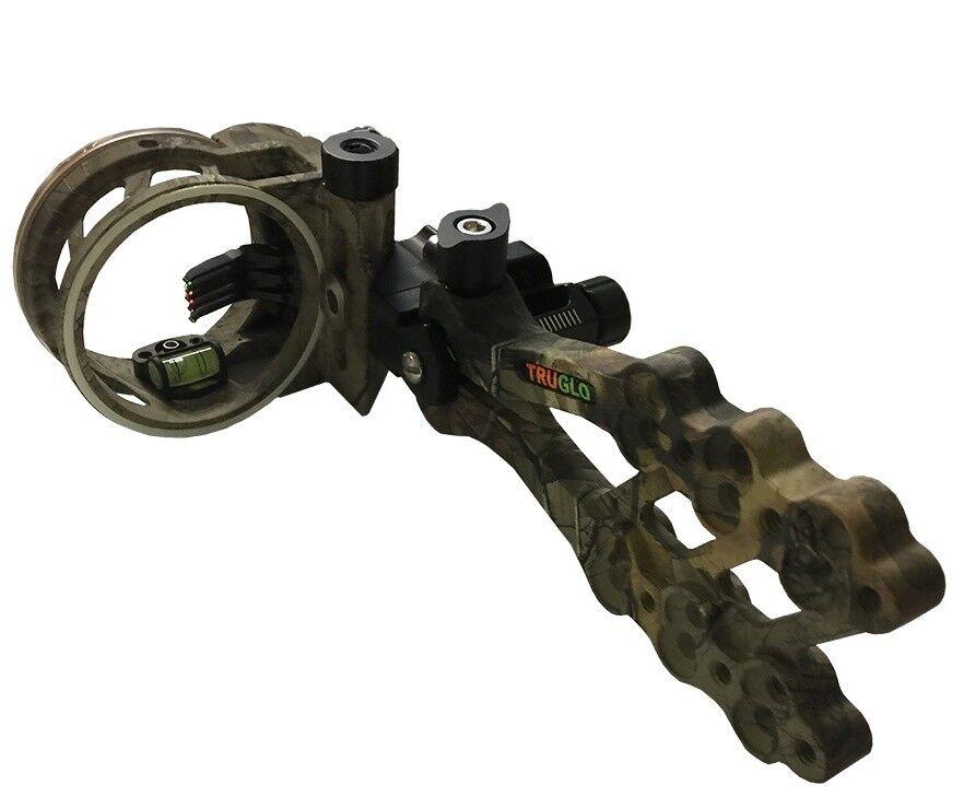 Nuevo Truglo Xtra camuflaje Hyper Strike 5 Pin Tiro con Arco Arco vista con luz TG5405J