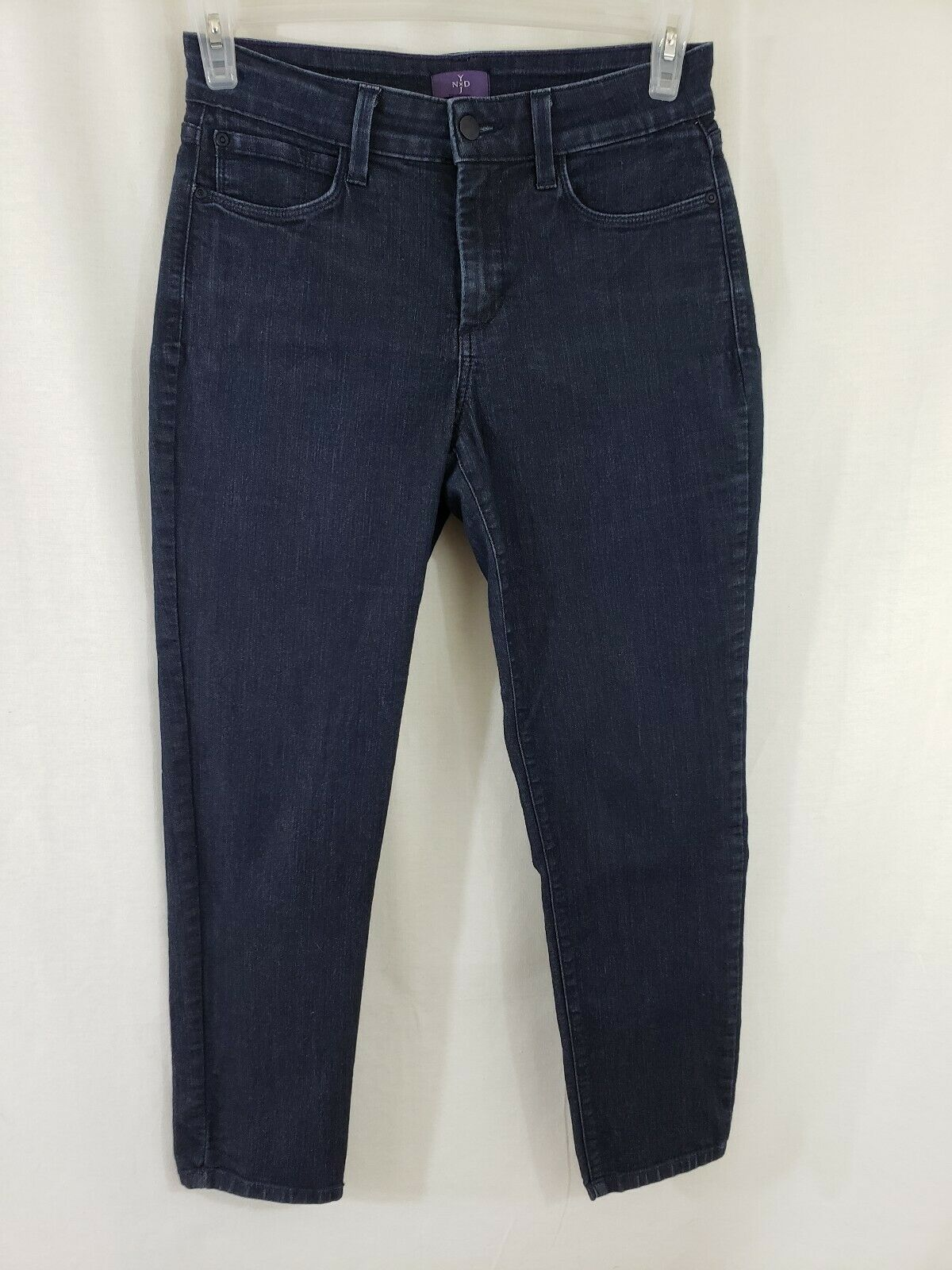 NYDJ Not Your Daughters Jeans Ankle Womens bluee Jeans Size 28 x 28 Dark EUC